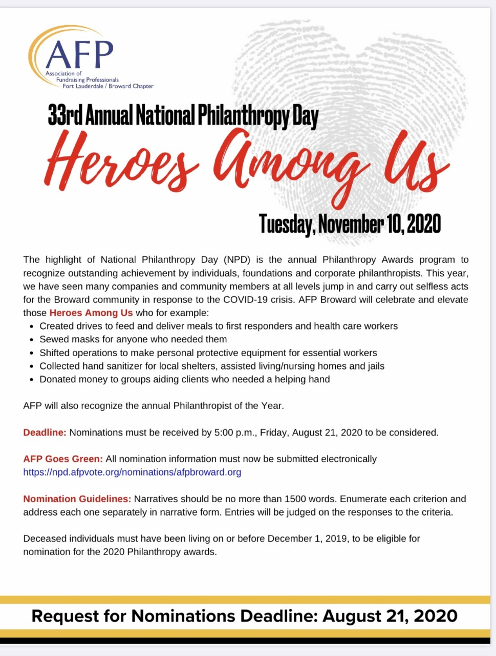 33rd Annual National Philanthropy Day
